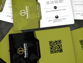 Edge Elegant corporate Business Card tookaarts