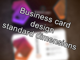 business card standard dimensions