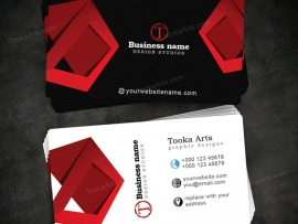 Contrast Elegant corporate Business Card Template RED