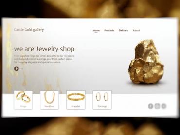 website UI design gold gallery